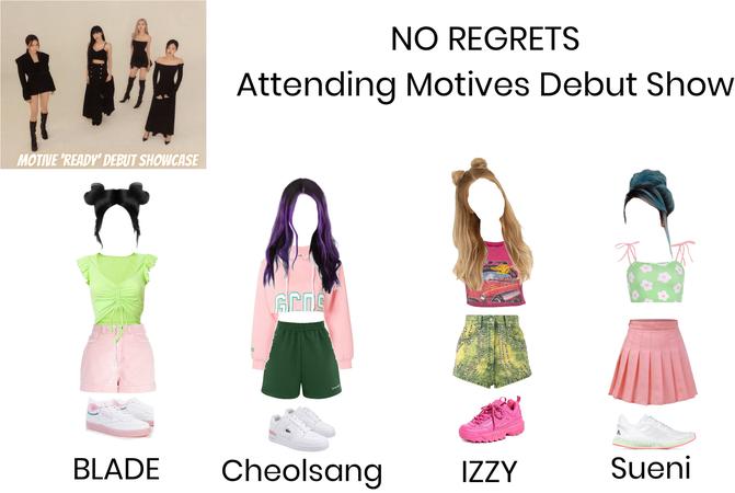 Motive Début Show Outfits