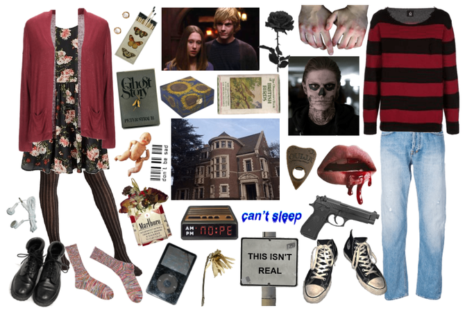 Violet Harmon and Tate Langdon (ahs)