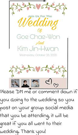 Chaewon and Jay wedding invitation | October 14, 2020
