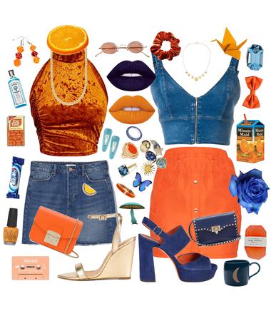 orange juice and denim