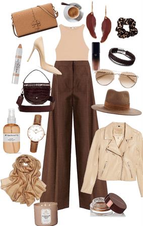 all brown/tan