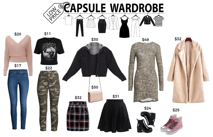 Low price capsule wardrobe