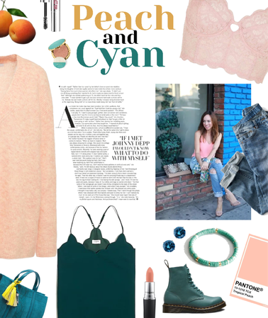 Peachy and Perfectly Cyan