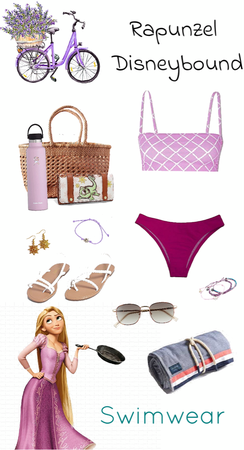 Rapunzel Swimwear Disneybound