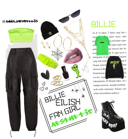 billie fan girl aesthetic