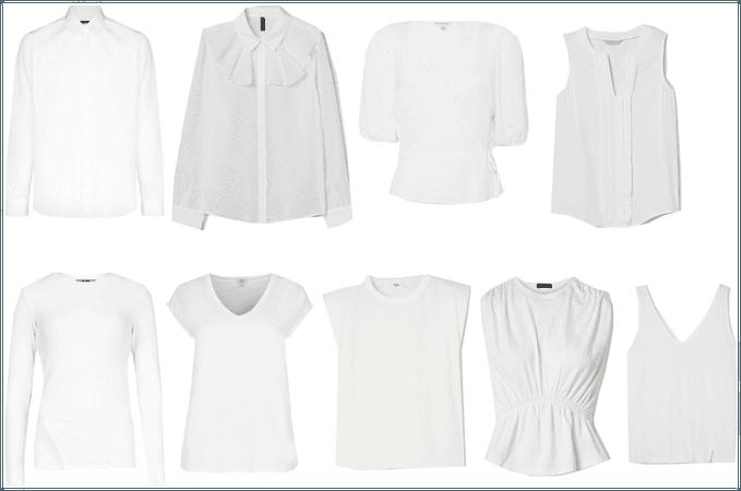 Basic white shirts
