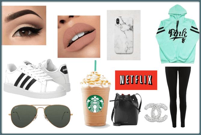 Trendy basic white girl