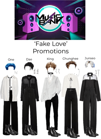 Music Bank 'Fake Love' promotions