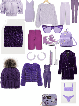 my purple clothes fore each box