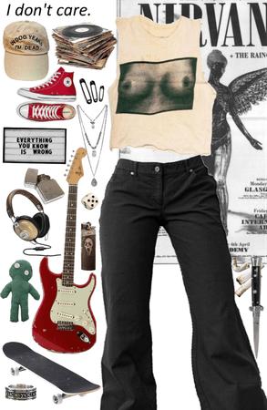 punk rock laid back girl