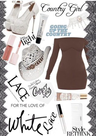|For Country Style Challenge| Lace, white,brown|