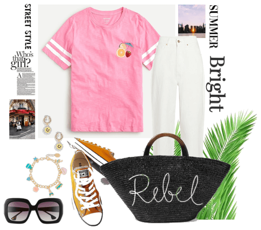 Pinky Bright Summer Street Style