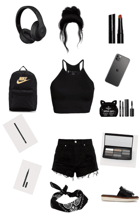 black beach vibe