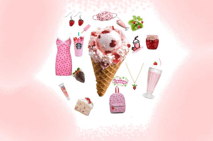 Strawberry Theme for Ice Cream!