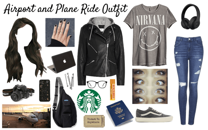 Airport and plane ride outfit