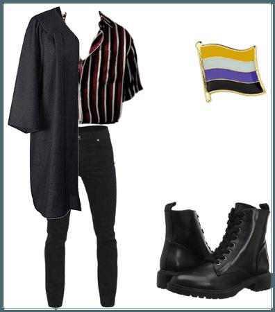 non binary graduation outfit