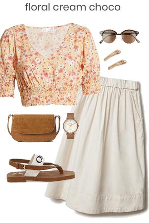 floral cream choco