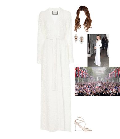 Sienna Baptiste at the Royal Wedding