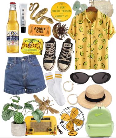 yellow monochromatic summer style