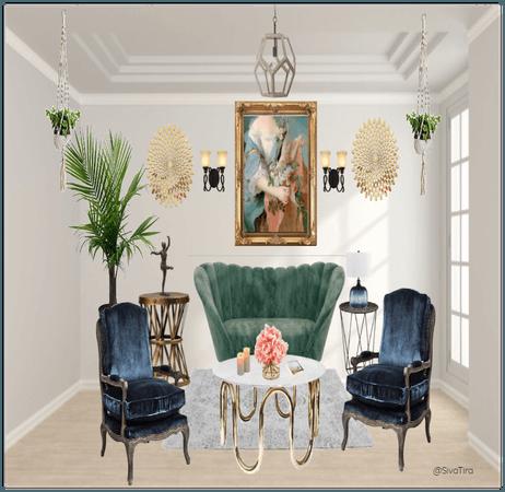 Vintage/Modern Ecliptic  Living room