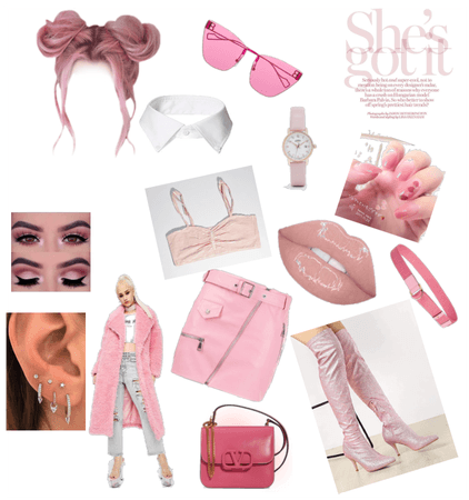 PINK LOOK OF A RICH GIRL