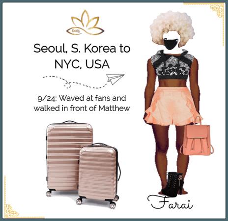 Farai Seoul to NYC Airport Looks