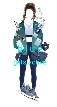 blue: gets active