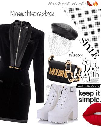Highest heels 🖤🤍👠