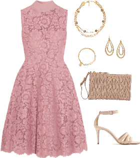 Pretty in Pink Floral Lace