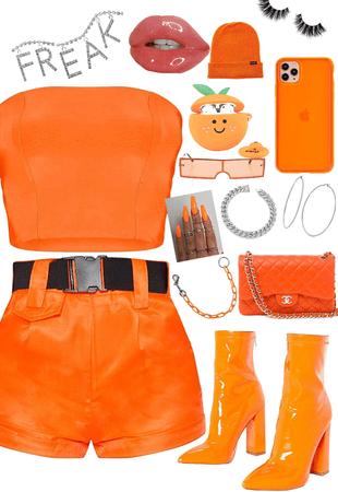 neon orange baddie 🔥🔥🥵🥵🦺🧡