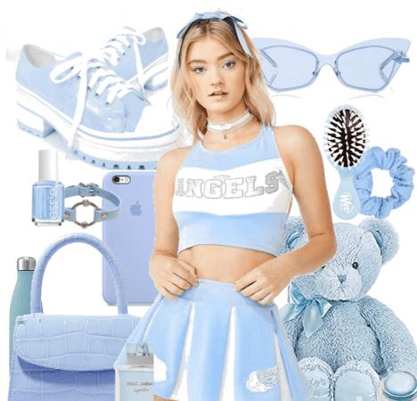 Blue Baby Cheerleader