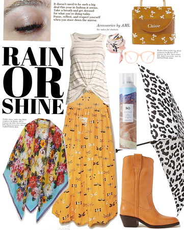 Rain or shine it's style time.