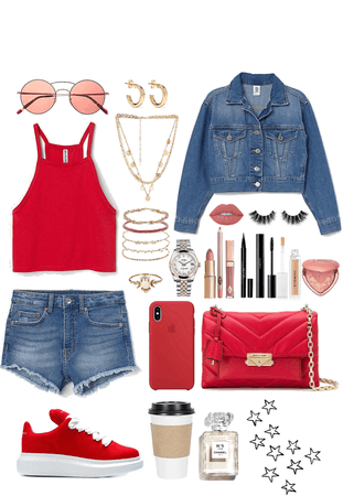 Red and Denim