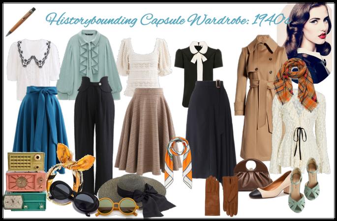 Historybounding Capsule Wardrobe: 1940's