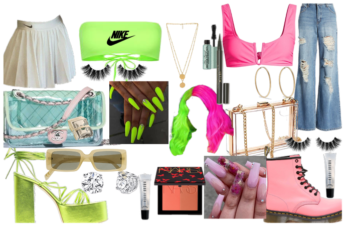 soft and cute/GREEN&PINK