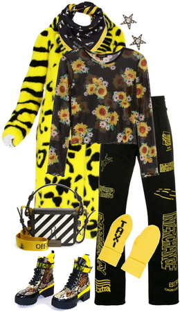 Mixed Media - Taxi Yellow and Basic Black