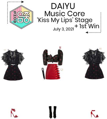 DAIYU//'Kiss My Lips' Music Core Stage + First Win