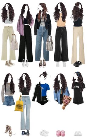 high school senior character wardrobe.