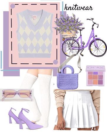 lilac knitwear