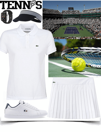 Tennis competition look