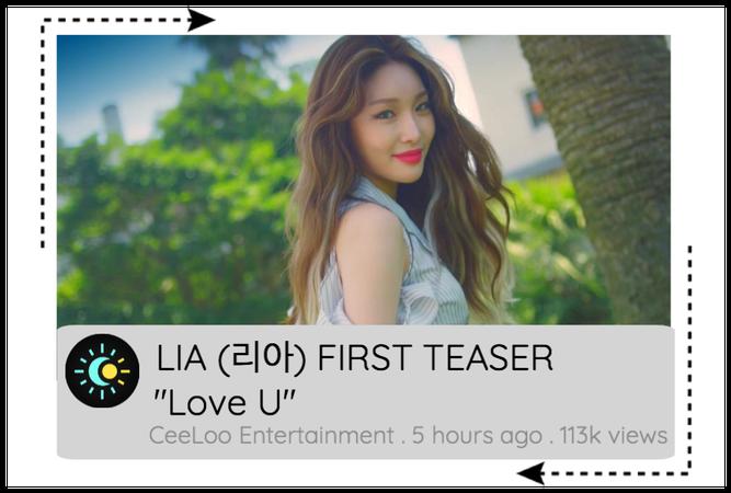 "LIA ""Love U"" FIRST TEASER"