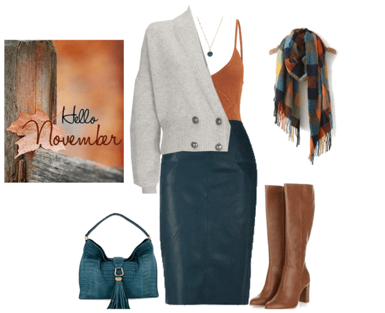 leather skirt series