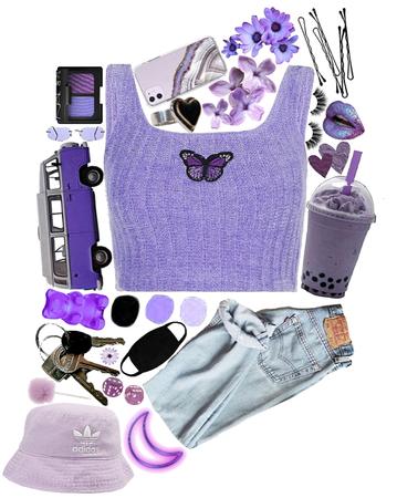 boba challenge, but make it purple ✨💜