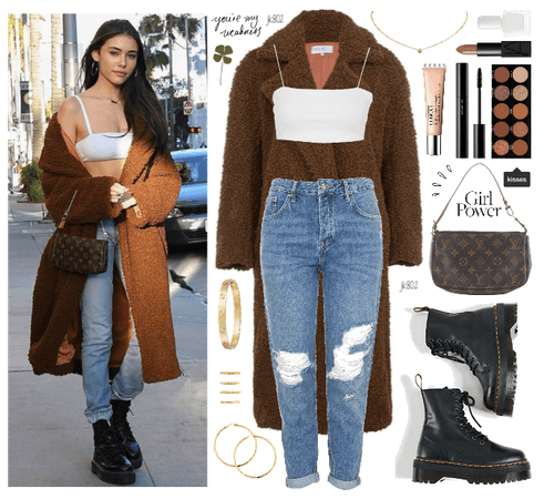 madison beer cozy coat // #29