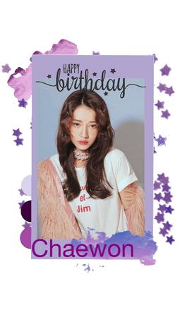 Happy Birthday to Chaewon