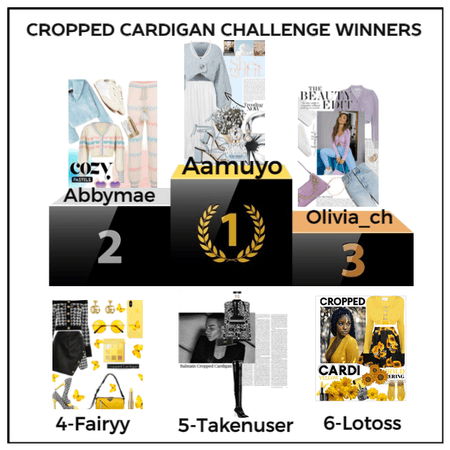 CROPPED CARDIGAN CHALLENGE WINNERS