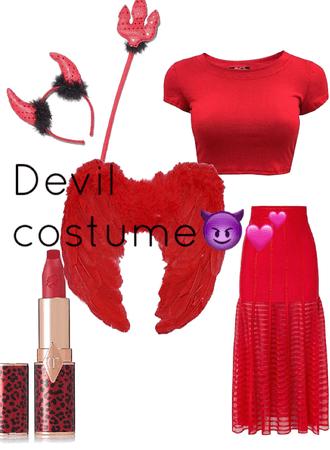 devil Halloween costume!👻😈(part one)