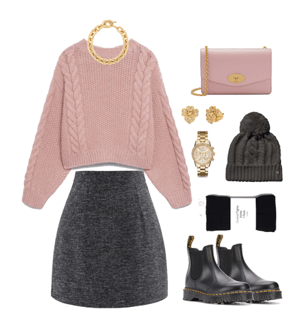 Pink Sweater Outfit 01