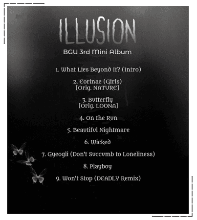 "BGU ""Illusion"" Tracklist"