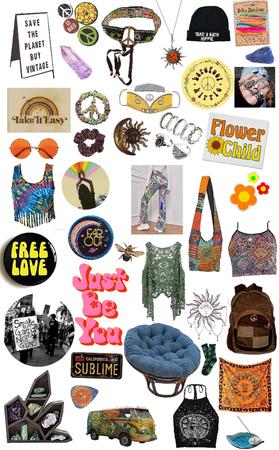 hippie mood board